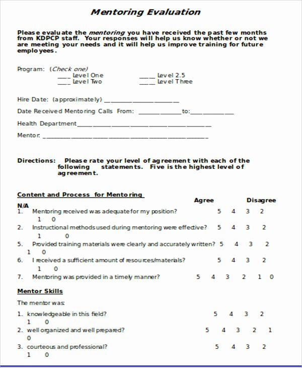 Employee Evaluation form Template Word Beautiful Sample Training Evaluation form In Doc 10 Examples In Word