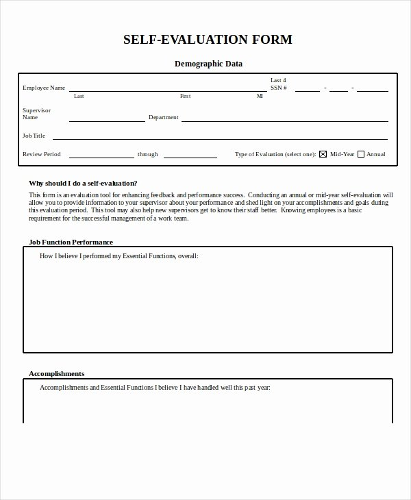 Employee Evaluation form Template Word Lovely Employee Evaluation form Example 13 Free Word Pdf