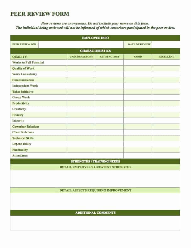 Employee Performance Evaluation Template Unique Free Employee Performance Review Templates