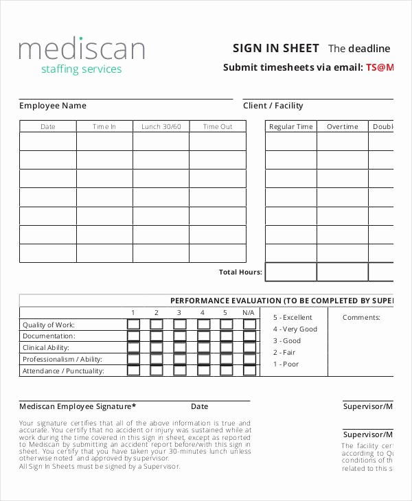 Employee Sign In Sheets Awesome Employee Sign In Sheets 10 Free Word Pdf Excel
