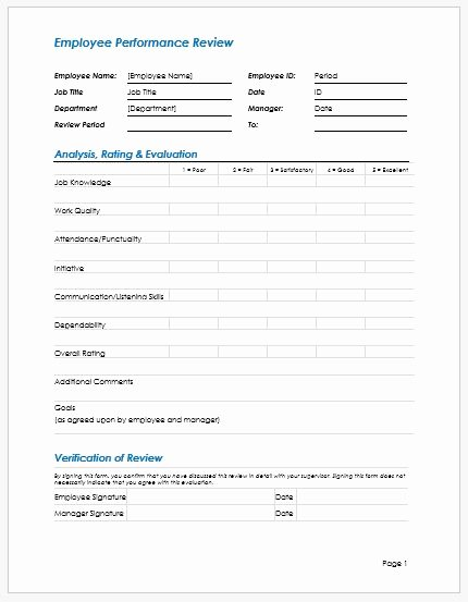 Employee Write Up Templates Awesome Employee Performance Review Write Up Template