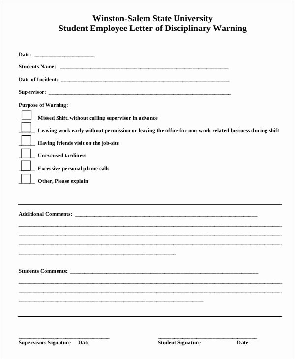 Employee Write Up Templates Beautiful Employee Write Up form 6 Free Word Pdf Documents