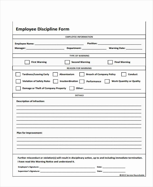 Employee Write Up Templates Best Of Employee Write Up form Free Printable