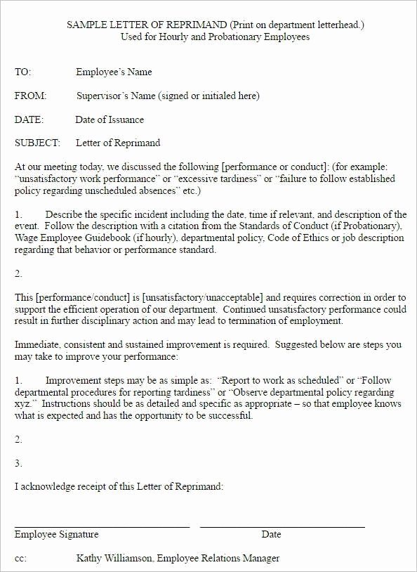 Employee Write Up Templates Best Of Write Up Letter for Employee Sample