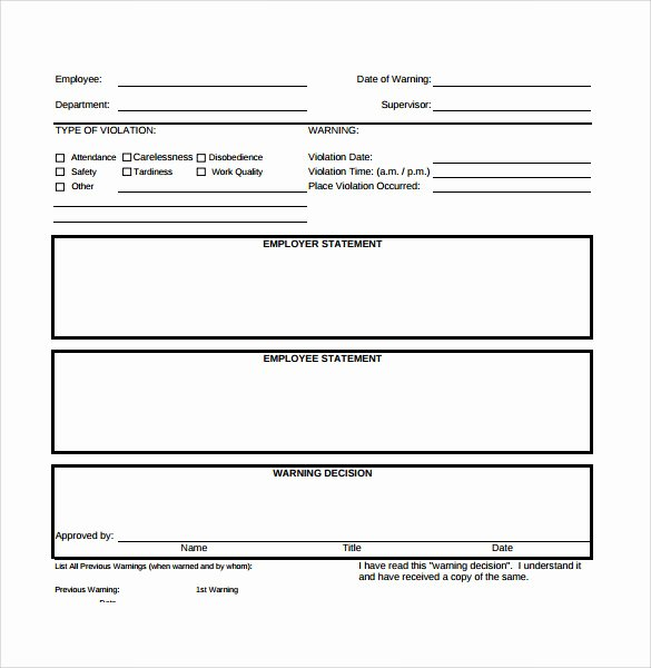 Employee Write Up Templates Elegant Sample Employee Write Up form 7 Documents In Pdf
