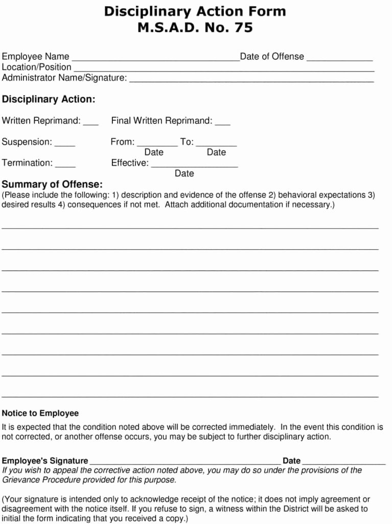 Employee Written Warning Template Free New 23 Employee Write Up form Free Download [word Pdf]