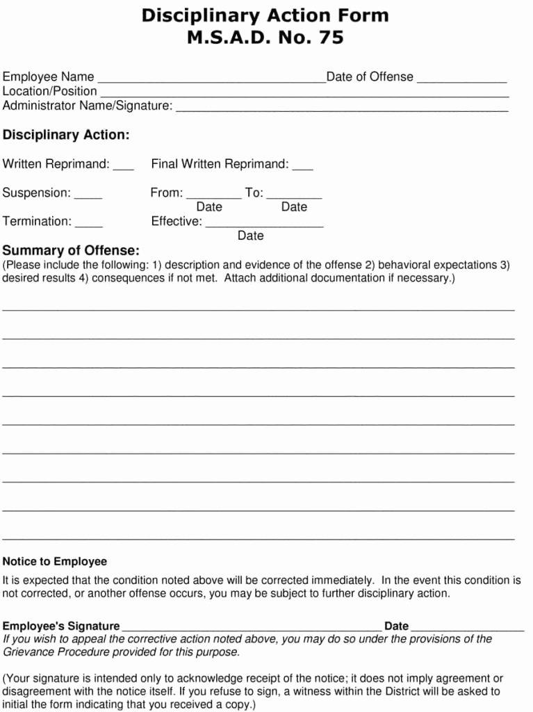 Employee Written Warning Template Free New 23 Employee Write Up form Free Download [word Pdf]