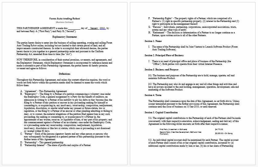 Employment Contract Template Word Fresh Business Contract Templates 8 Free Samples Microsoft