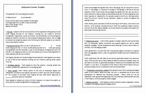 Employment Contract Template Word Lovely Employment Contract Template