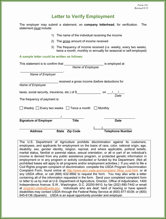 Employment Verification form Template Luxury 5 Employment Verification form Templates to Hire Best Employee
