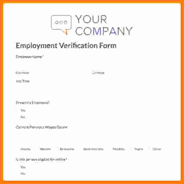 Employment Verification form Template Unique 8 Salary Contract Template