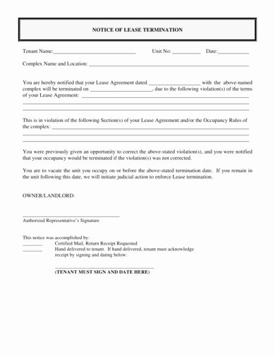 End Of Lease Letter Awesome 9 End Of Lease Letter to Tenant Examples & Templates