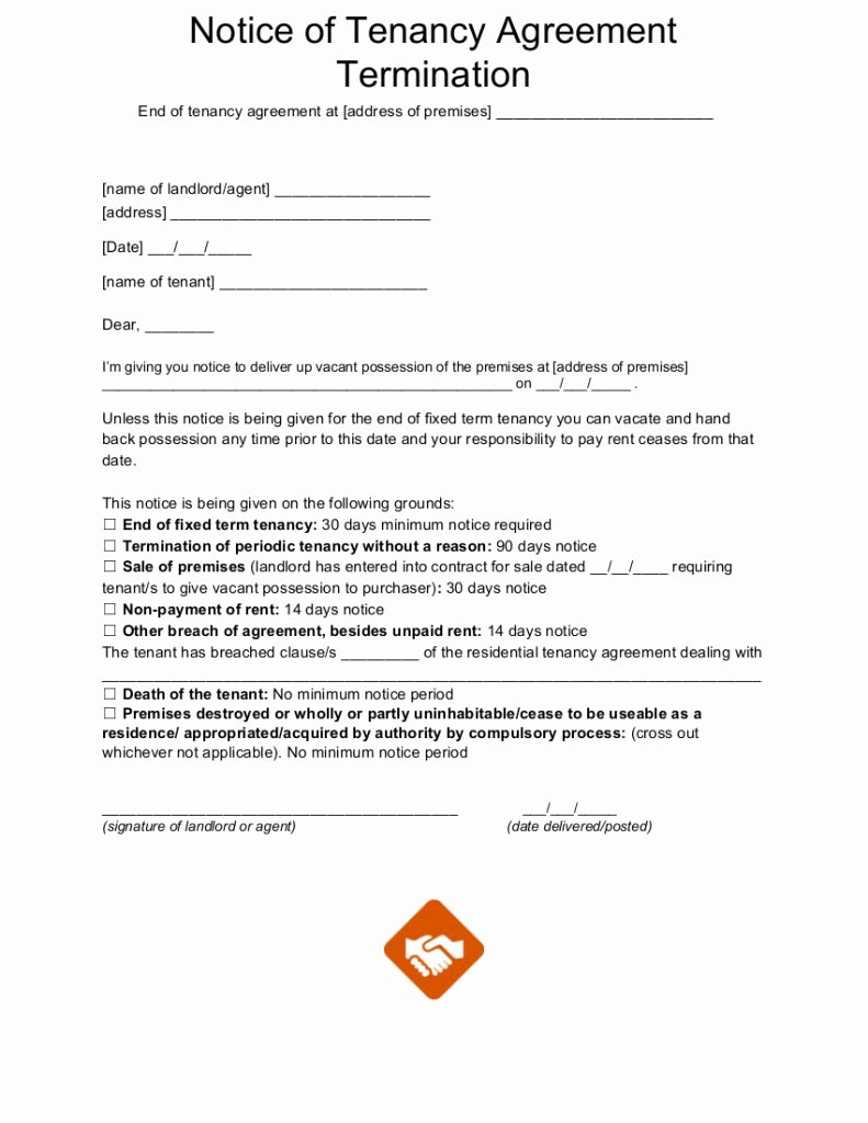 End Of Lease Letter Best Of End Tenancy Letter Templates