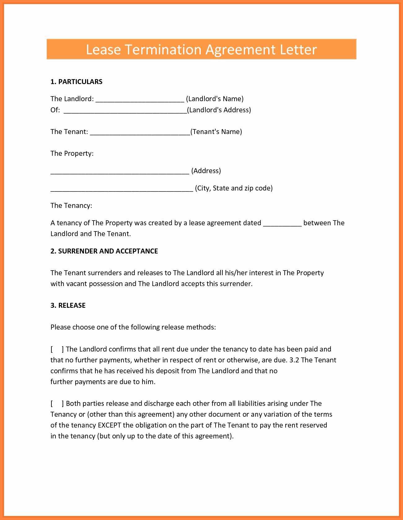 End Of Lease Letter Lovely 8 Termination Of Rental Agreement Letter by Tenant