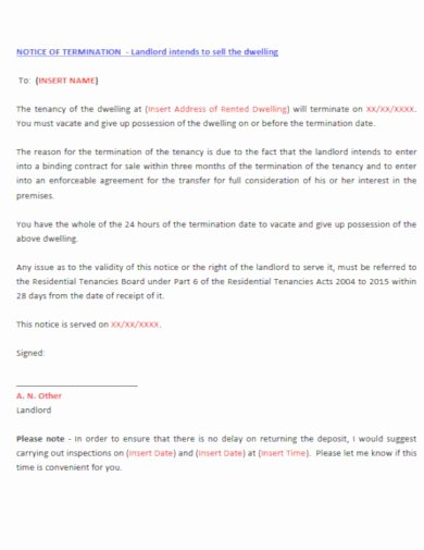 End Of Lease Letter New 5 End Of Lease Letter Templates to Tenant Pdf