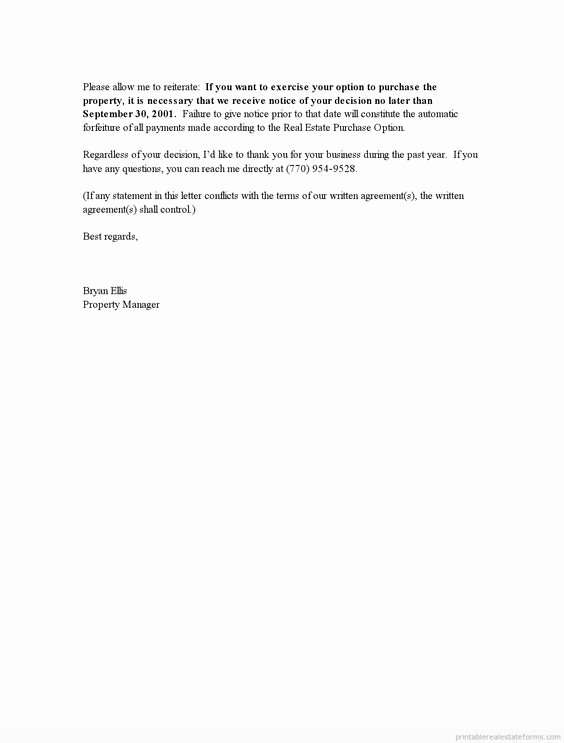 End Of Lease Letter Unique Printable End Of Lease Letter Template 2015