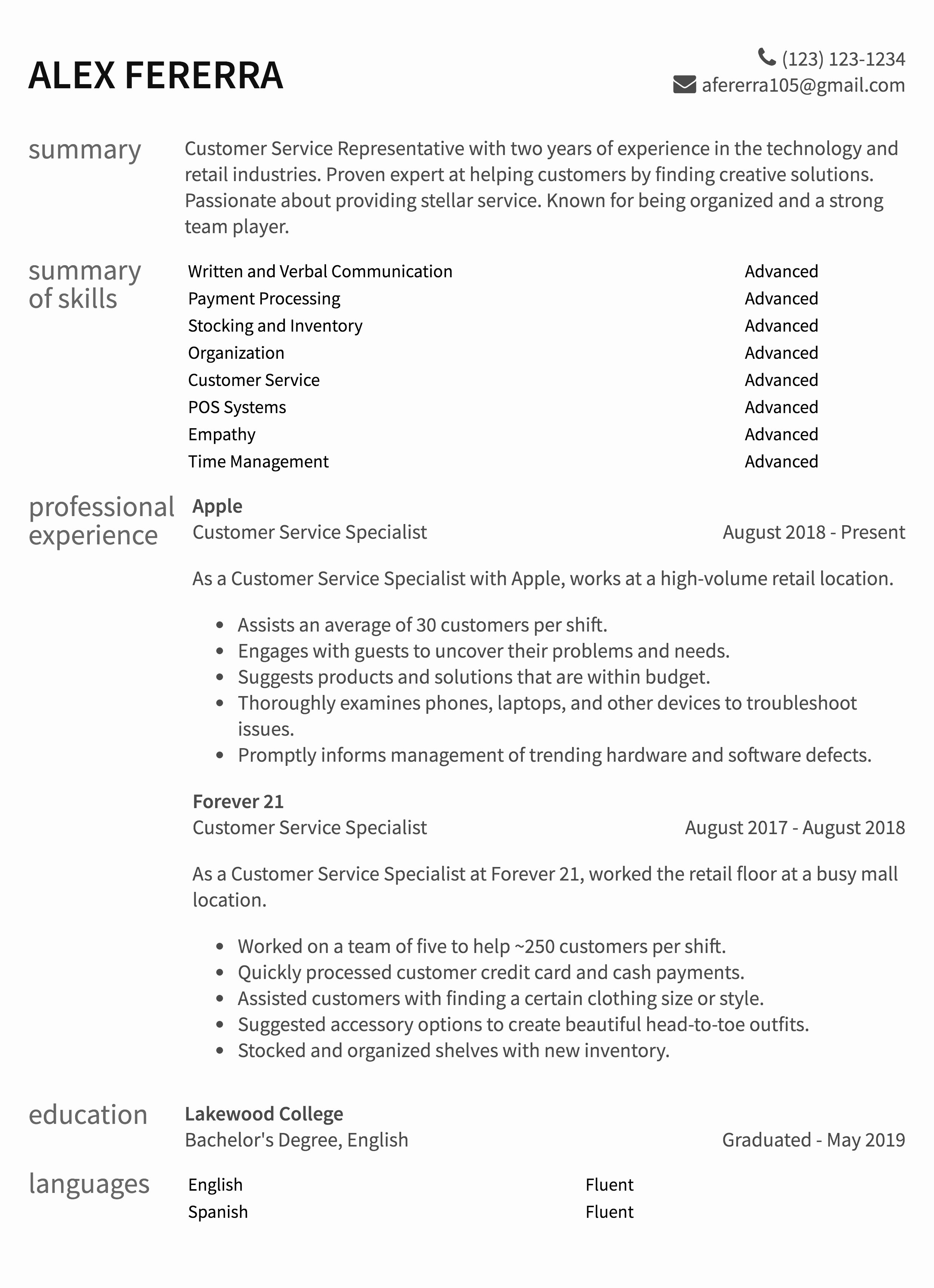 Entry Level Customer Service Resume Awesome Customer Service Resume Samples & How to Guide