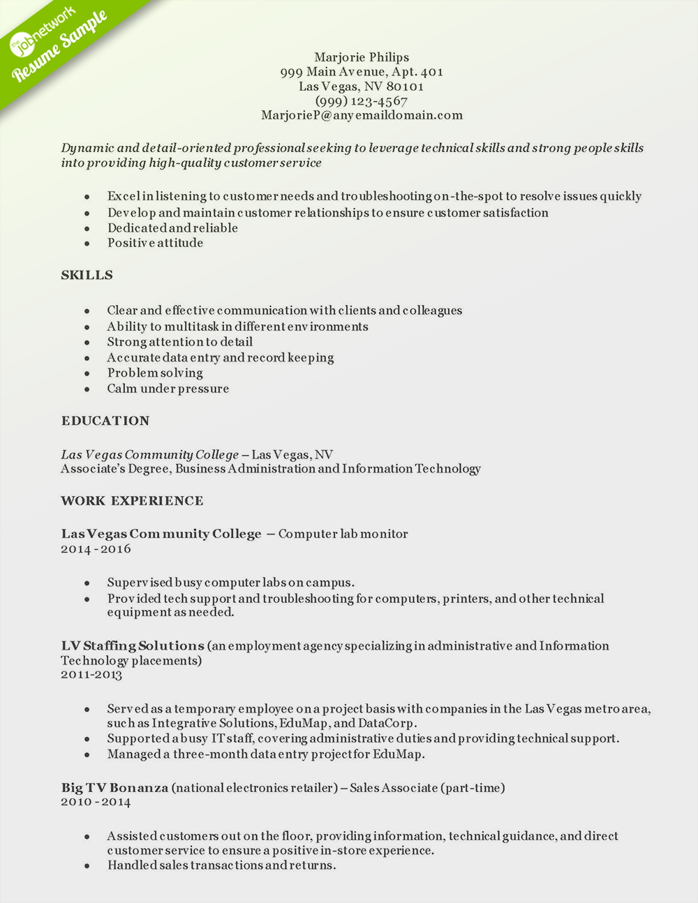 Entry Level Customer Service Resume Elegant How to Craft A Perfect Customer Service Resume Using Examples