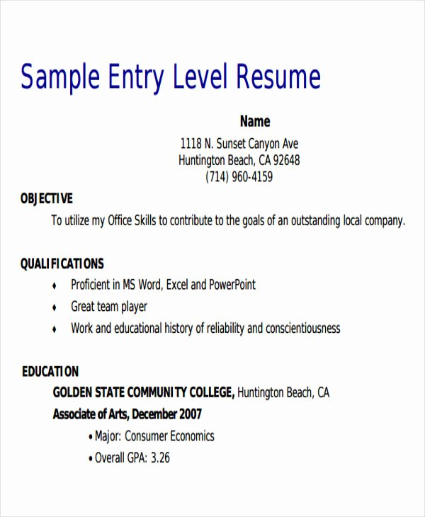 Entry Level Sales Resume Beautiful 18 Sales Resume Templates In Pdf
