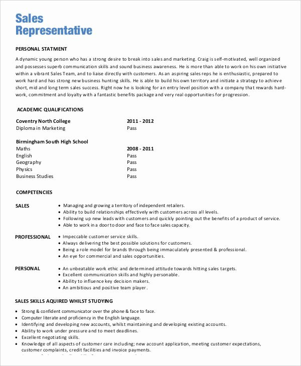 Entry Level Sales Resume Best Of Sales Resume 29 Free Word Pdf Documents Download