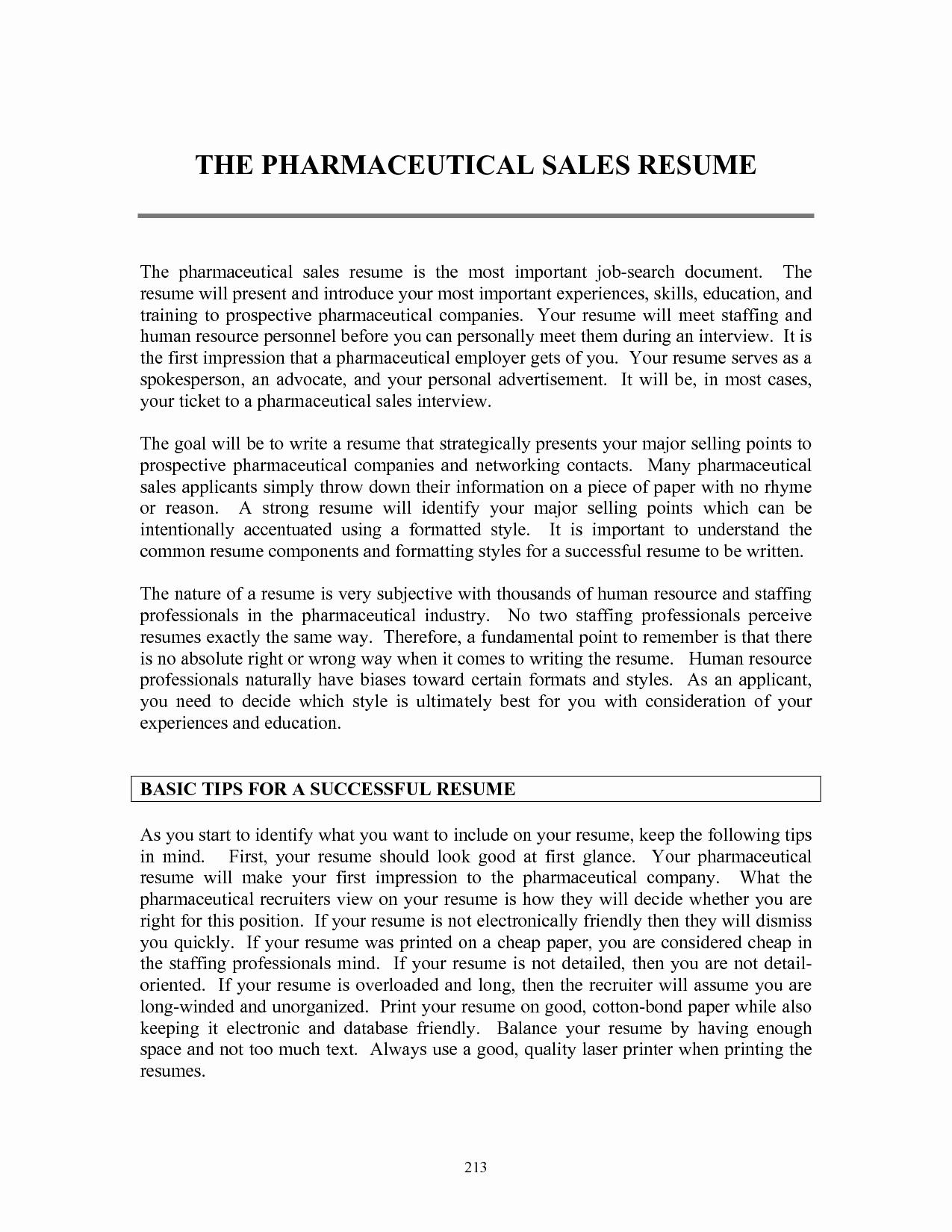 Entry Level Sales Resume Elegant Resume Templates Pharmaceutical Sales Resume Templates