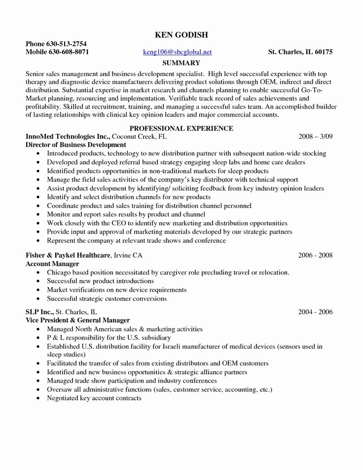 Entry Level Sales Resume Fresh 17 Best Ideas About Sales Resume On Pinterest