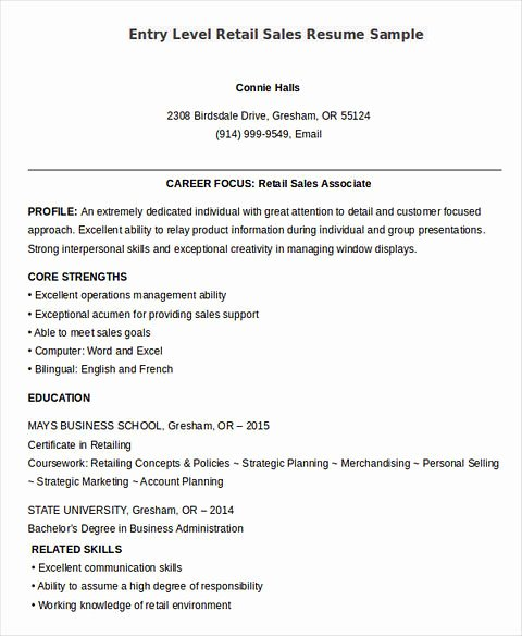 Entry Level Sales Resume Fresh Sells Yourself Through Great Salesperson Resume