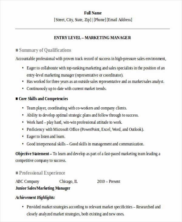 Entry Level Sales Resume Luxury 30 Sales Resume Design Templates Pdf Doc