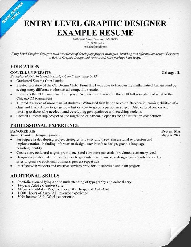 Entry Level Web Developer Resume Inspirational Entry Level Graphic Designer Resume Student