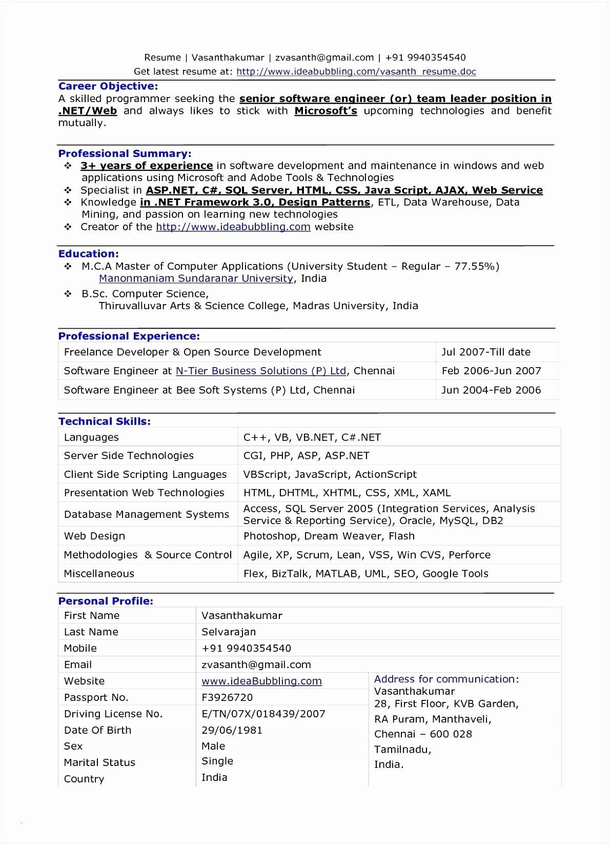 Entry Level Web Developer Resume New Junior Web Developer Resume