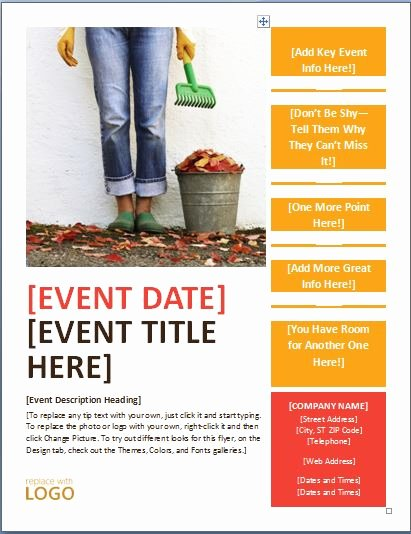 Event Flyer Template Word Beautiful Generic Seasonal event Flyer Template