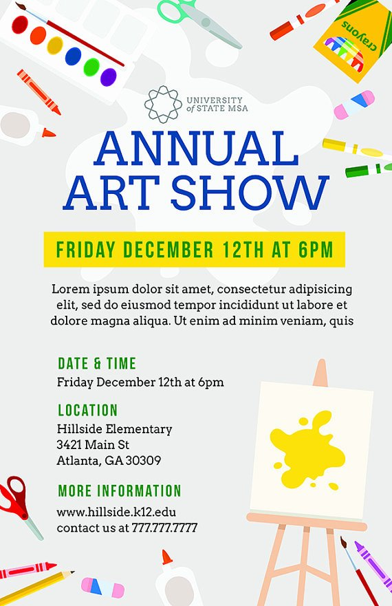 Event Flyer Template Word Best Of Diy Printable School Art Show Flyer Template Word Flyer