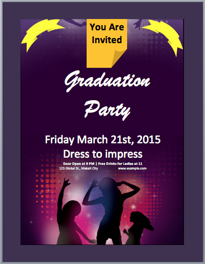 Event Flyer Template Word Best Of Graduation Party Invitation Flyer Template – Microsoft