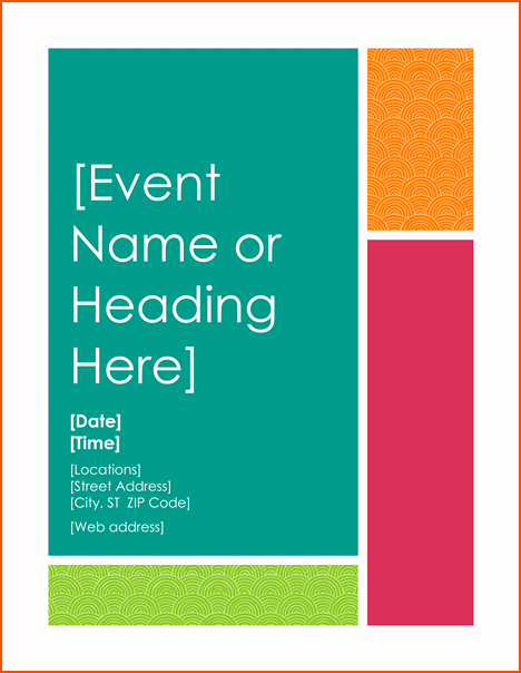 Event Flyer Template Word New 8 event Flyers Templates Bookletemplate