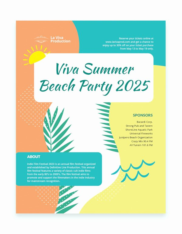 Event Flyer Template Word Unique 42 Party Flyer Templates In Word
