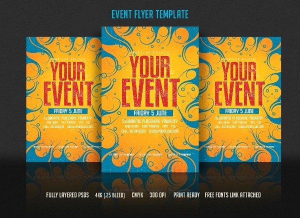Event Flyer Template Word Unique event Flyer Templates Free