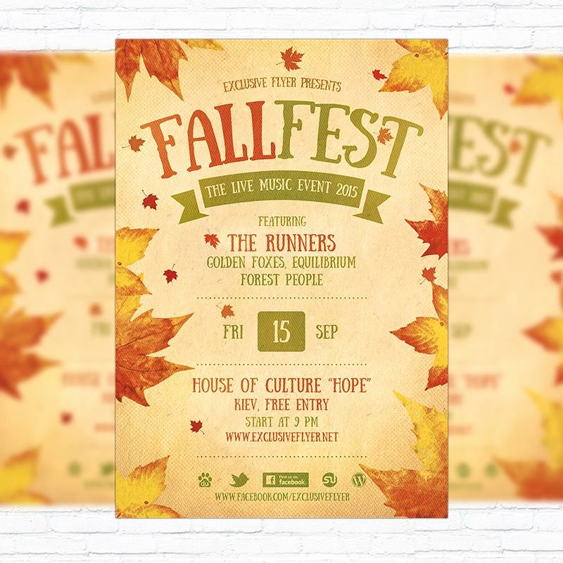 Event Flyer Templates Free Awesome Fall Festival Flyer Template Printable Flyers In Word