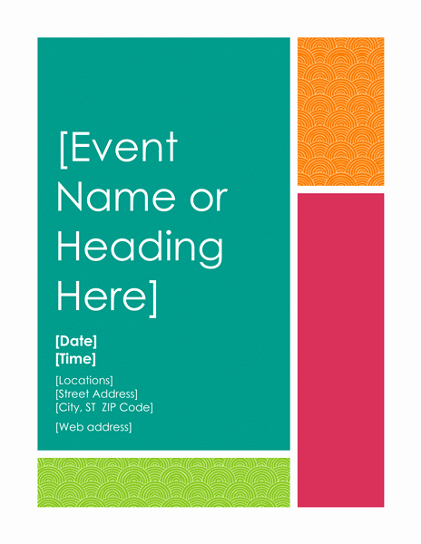 Event Flyer Templates Free Awesome Free Printable Flyer Templates