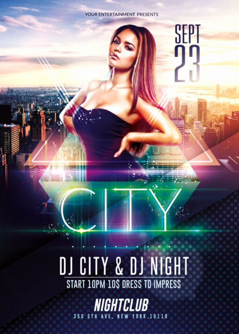 Event Flyer Templates Free Best Of Elegant City event