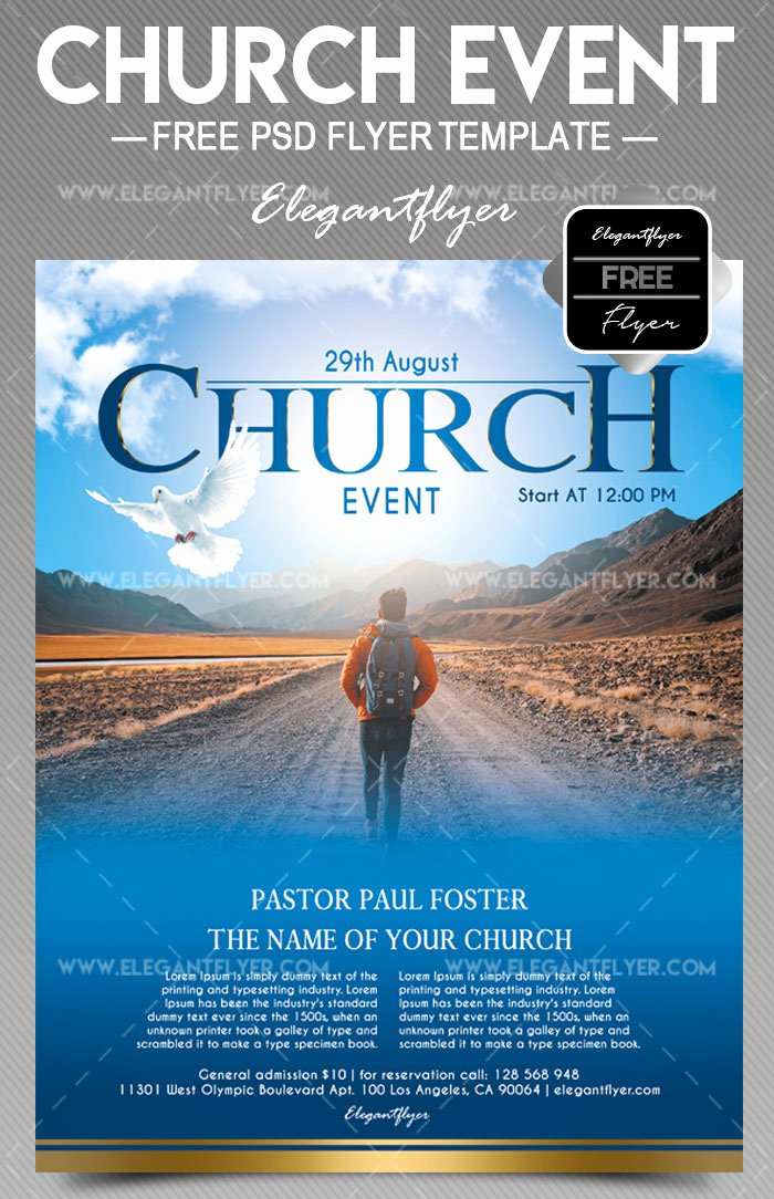 Event Flyer Templates Free Elegant 34 Free Psd Church Flyer Templates In Psd for Special