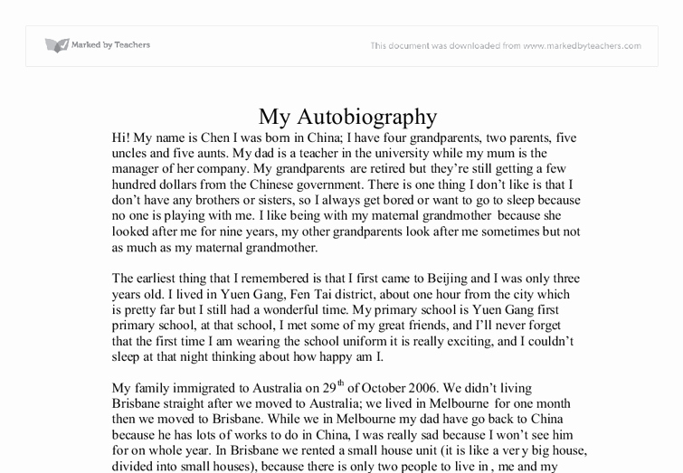Example Of Autobiography About Yourself Best Of Best S Of Sample Biography About Myself Sample