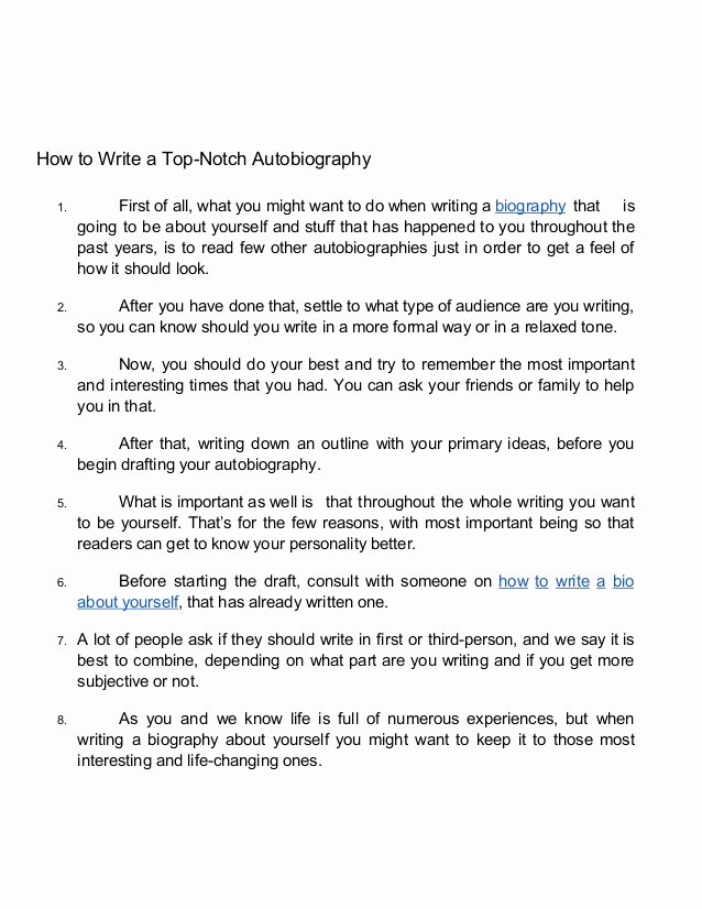 Example Of Autobiography About Yourself Unique 15 Tips On How to Write Autobiography About Yourself