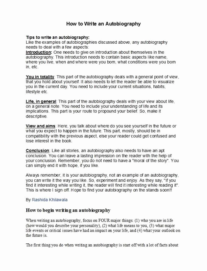 Example Of Autobiography About Yourself Unique 40 Autobiography Examples Autobiographical Essay