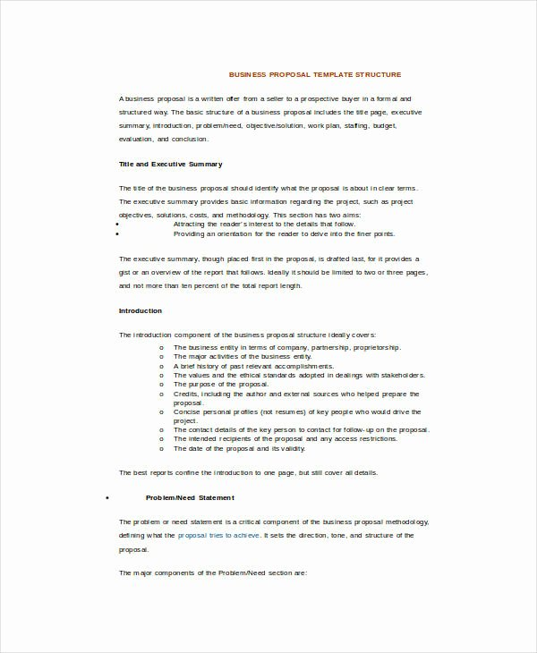 Examples Of Business Proposals Elegant 25 Sample Business Proposal Templates In Word