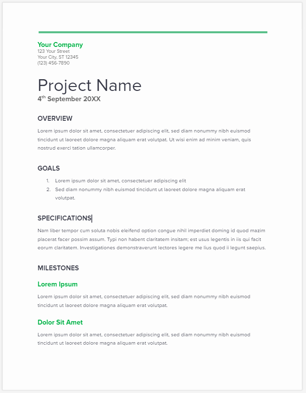 Examples Of Business Proposals Luxury 20 Free Project Proposal Template Ms Word Pdf Docx
