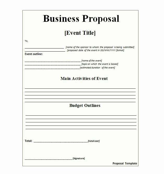Examples Of Business Proposals Unique 30 Business Proposal Templates & Proposal Letter Samples