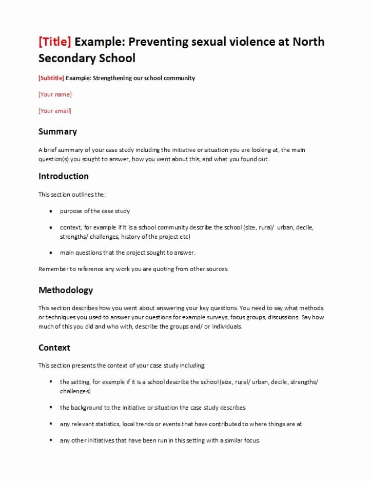 Examples Of Case Studies Fresh 49 Free Case Study Templates Case Study format