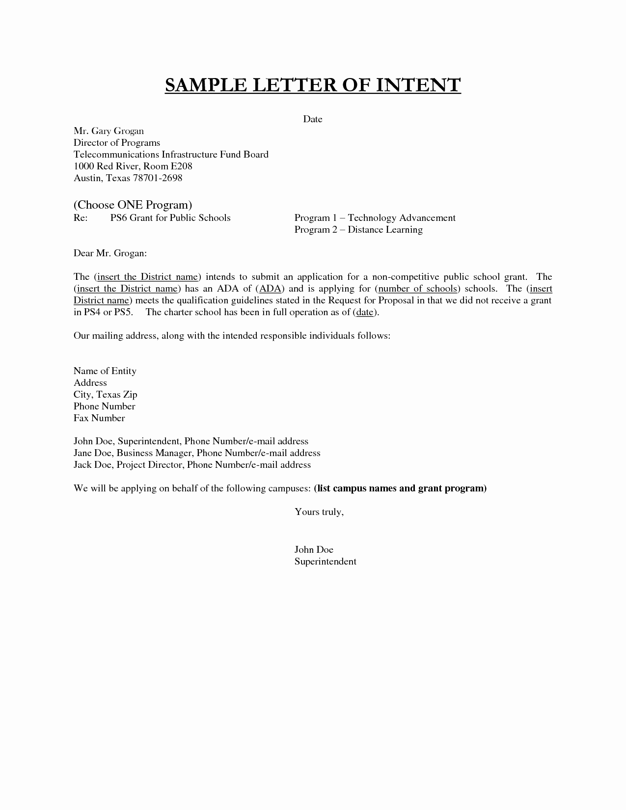 Examples Of Letter Of Intent Beautiful Best S Of Sample Letter Intent Employment Template