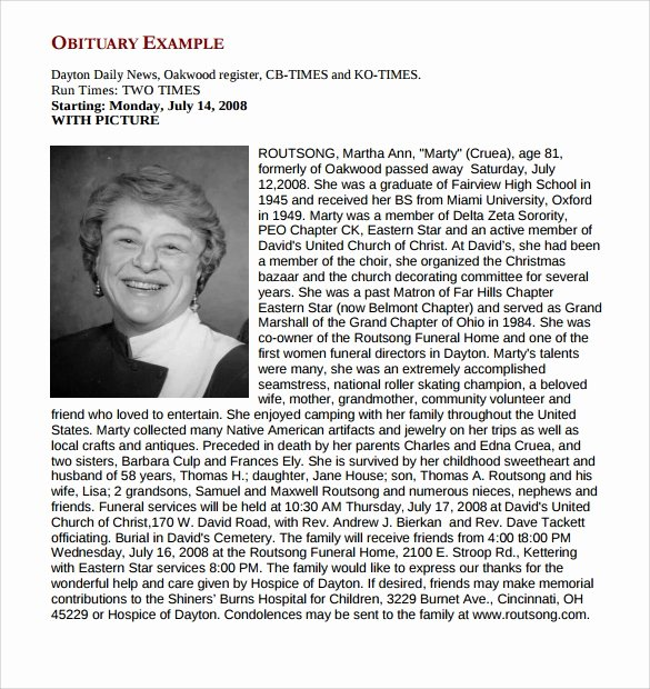 Examples Of Obituaries Well Written Elegant Obituary to Pin On Pinterest Pinsdaddy
