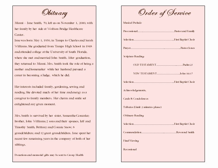 Examples Of Obituaries Well Written Luxury Obituary Samples for Mother